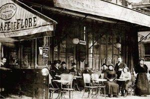 Le café de Flore à Paris, 1900