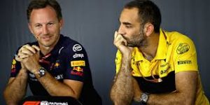 Cyril Abiteboul et Christian Horner dans Formula One drive to survive