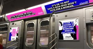 Pub Okcupid dans le métro new-yorkais
