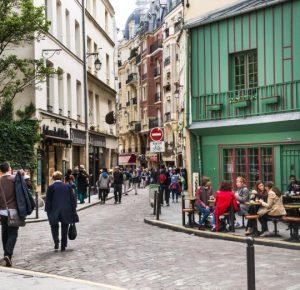 La rue Galande à Paris