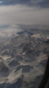 La montagne vue du ciel