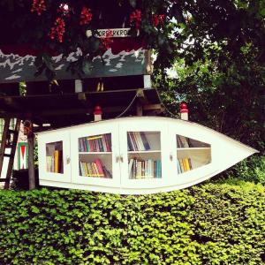 Une boîte à livres à Amsterdam