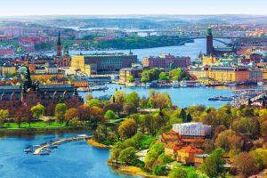 Vue de Stockholm, capitale de la Suède