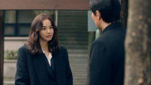 Tension romantique dans une série coréenne